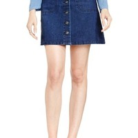 Two by Vince Camuto A-Line Denim Miniskirt   Nordstrom
