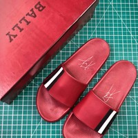 Bally Sandals Red Slipper Sale