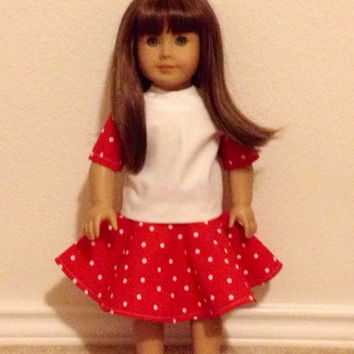 Red and White Outfit: fits most 18 in dolls