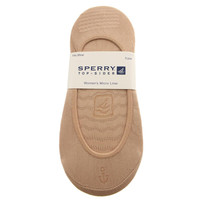 Sperry Womens Solids No Show Sock Liners