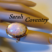 Vintage Faux Opal Sarah Coventry Ring (Size 6)