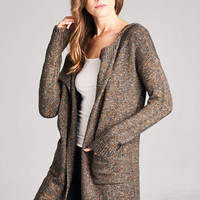 Hooded Sweater Cardigan