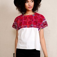 Vintage Embroidered Top - Urban Outfitters