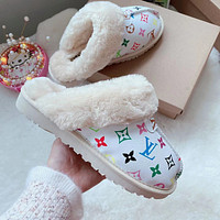 LV Louis Vuitton UGG letter print plush slippers toe boots Shoes 1