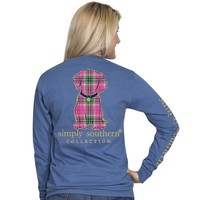 Puppy Plaid - Dog - SS - Adult Long Sleeve