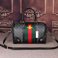 Gucci Women Leather Luggage Travel Bags Tote Handbag-6