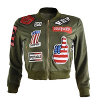 Real Deal Cropped Bomber Jacket