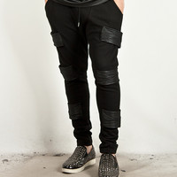 Triple Leather Accent Sweatpants 91 85568