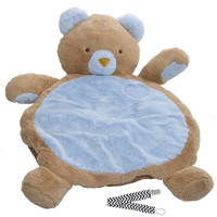 Mary Meyer 01411 Blue Bear Bestever Baby Mat with Pacifier Clip