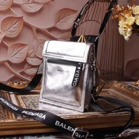 Ready Stock Balenciaga Women's New Style Leather Inclined Shoulder Bag #1812