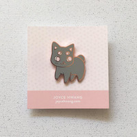 FOUR EYED KIT — enamel pin