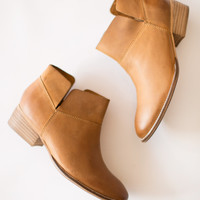 Snare Tan Leather Bootie