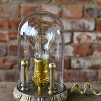 Steampunk Lamp - Desk Lamp - Edison Light - Dome Light - Exceptional Quality - Custom Design -