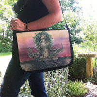 Dryad Spirit Messenger Bag With Changeable Hand Pressed Flap