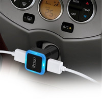 Reiko CAR CHARGER 2A5V DUAL USB CHARGER BLACK