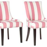 Pink Lester Dining Chairs, Pair, Dining Chair Sets