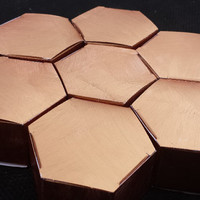 Golden Copper Gift / Favor Box -- Wedding -- Party -- Decor -- Set of 3 -- FREE SHIPPING in US