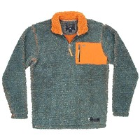 Piedmont Range Sherpa Pullover in Washed Slate and Burnt Orange by Southern Marsh