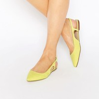 ASOS LAST LAUGH Pointed Sling Back Ballet Flats