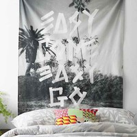 Wesley Bird Easy Come Easy Go Tapestry- Black & White One