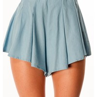 Iced Vanilla Cupcake Shorts - Denim