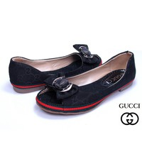GUCCI Bow Women Fashion Fish mouth Low heeled Shoes