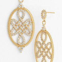 Women's Freida Rothman Love Knot Drop Earrings - Gold