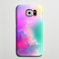 Pastel Pink Turquoise Abstract Sky Galaxy S8 Plus Case Galaxy S7 Case Samsung Galaxy Note 5  Phone Case s6-082