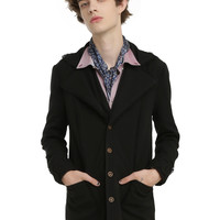 Disney Alice Through The Looking Glass Mad Hatter Guys Lined Black Jacket
