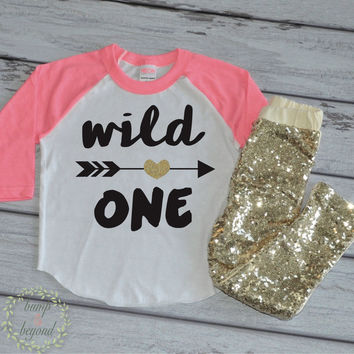 Wild One Shirt Modern Birthday Outfit Arrow Shirt First Firthday Shirt First Birthday Wild One Todder Wild One Outfit Set with Pants 023