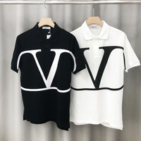 Valentino sells casual t-shirts with large printed button-down collars and short sleeves for both men and women