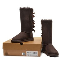 Women's UGG snow boots Long bow high boots DHL _1686248855-381