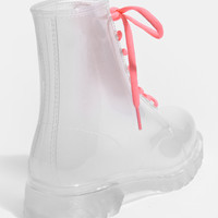 Jeffrey Campbell Clear Stompin Boots