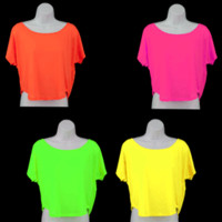 CT21 - Blacklight Reactive Ladies Crop Top Shirt