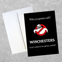 Supernatural Greeting Card - 5 x 7 Full Color Birthday Gift Holiday Card - Winchesters Sam Dean
