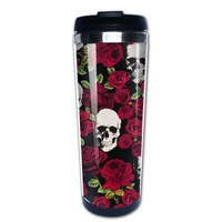 Roses Sugar Skull coffee mug stainless steel tumbler caneca tea Cups