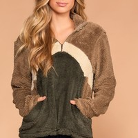 Cocoa And Marshmallows Pullover Sherpa Tunic