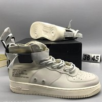 NIKE SF AF1 high tops fashion personality sports shoes F-CSXY white