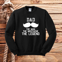 dad mustache sweater unisex adults