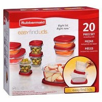 Rubbermaid Easy Find Lid Food Storage Container, BPA-Free Plastic, 20-Piece Set (1777172)