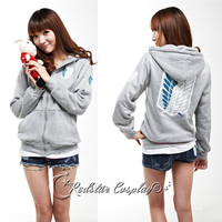 Attack On Titan Investigation Recon Corps Clothing Hooded Sweatshirt Cosplay Unisex Hoodie