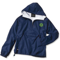 Made to Order Monogrammed Quarter Zip Rain Jacket Pullover