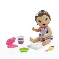 Baby Alive Interactive Talking Baby Doll Super Snacks Lily Brunette