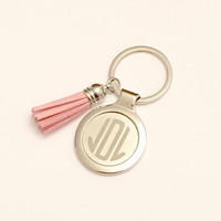 1 Monogrammed Tassel Keychain, Custom Key Chain, Personalized Tassel Keychain, Custom Bridesmaid gift, Personalized Birthday gift, Tassel