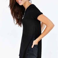 Silence + Noise Tara Side Slit Tee