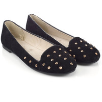 Studded Slipper Shoes   Black   Accessorize