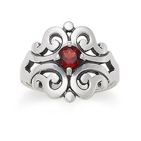 Spanish Lace Ring with Garnet | James Avery