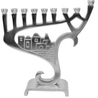 "Lamp Lighters Ultimate Judaica Menorah Pewter - 8.5""H"