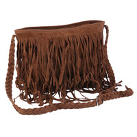 Fashion Women Lady Fringe Weave Tassel Shoulder Messenger Cross Body Satchel Bag Handbags 2016 Hot Sale