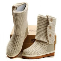UGG Women Fashion Knit Knitted Wool Snow Boots